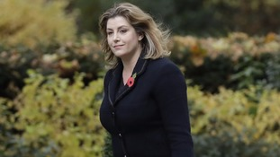 Penny Mordaunt arrives in Downing Street.