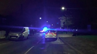 A body was found in a burning car in Partington