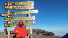 Eduard Sparkes climbed Kilimanjaro to raise money for African midwives