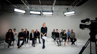 Presenter Julie Etchingham and the people's panel