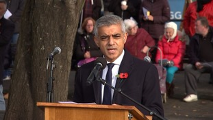 London Mayor Sadiq Khan spoke at the ceremony.