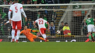 Northern Ireland were beaten by a controversial penalty.