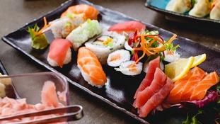 Deluxe Geta Sushi at Yakinori