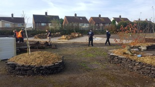 Volunteers are currently working to transform the site