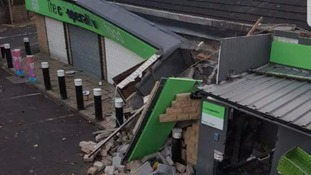 Damage to the Co-op in Cullingworth