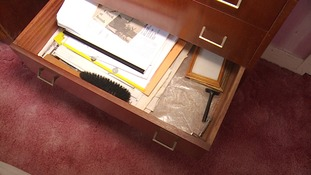 The drawer where Christopher's memories were kept