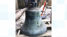 Large bronze bell of St Austell.