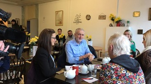 Labour leader Jeremy Corbyn in Consett.