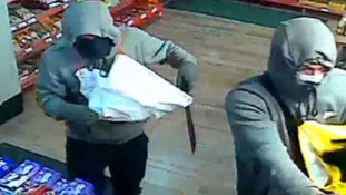 CCTV: Armed robbers raid Peterborough shop