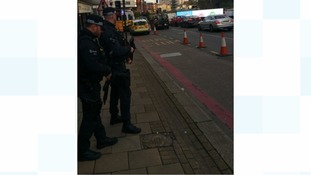 Armed officers in Birmingham City Centre