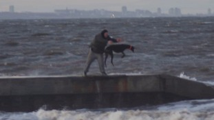 Did this man throw a greyhound into the North Sea?