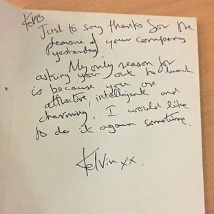 One of the notes Kerry McCarthy says she received
