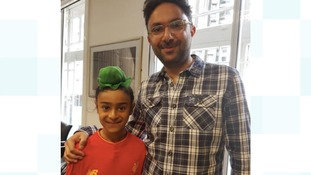Himmut and Sathnam at the read through for The Boy with The Topknot