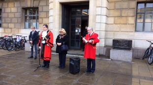 The Mayor of Cambridge led the Armistice Day commemorations