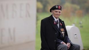 99-year-old Les Cherrington at the National Memorial Arboretum.