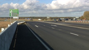 The new bridge carrying the A140 over the bypass