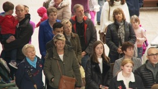 Cribbs Causeway shopping centre near Bristol held a minute's silence.