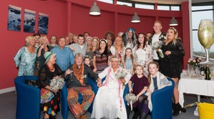 """randmother-of-three, Helen, said: """"It was a happy hippy hospice for the day. It was a perfect day but very emotional."""