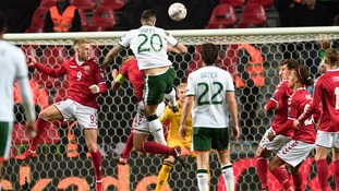 Ireland hold Denmark in the first leg of their World Cup play-off in Copenhagen