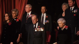 The Queen and Prince Philip at the annual Festival of Remembrance.