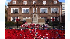 South falls silent on Remembrance Sunday