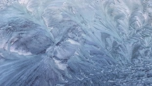 Frosty windscreen Sunday morning TRACEY LAING
