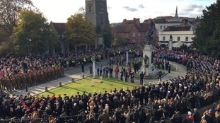 Veterans and troops join together in Colchester