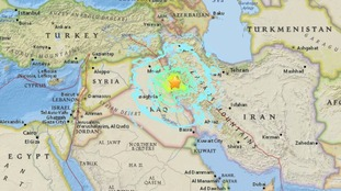 The quake struck near the Iran-Iraq border