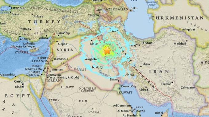 the quake struck near the iran iraq border