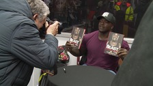 Akinfenwa returned to Northampton to promote his new book.