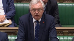 Brexit Secretary David Davis speaks in the House of Commons.