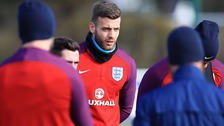 Angus Gunn took part in England training on Monday.