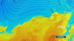High pressure and a milder air mass for midweek