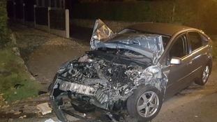 The car which was involved in the crash
