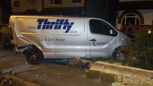 The van which was involved in the crash
