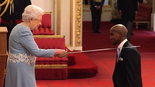 Sir Mo Farah received his knighthood on Tuesday.