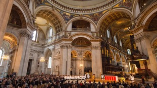 A remembrance service took place at St Paul's Cathedral.