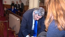 "Gordon Brown told ITV West Country the nation suffers due to ""divisions within the Conservative Party""."