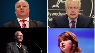 Four party leaders Wales