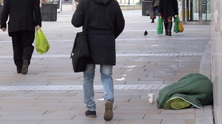 Homeless on street