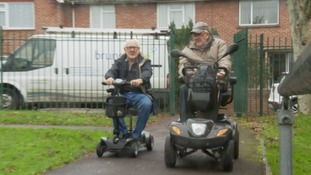 Brian and Arthur were given scooters following a report on ITV West Country.