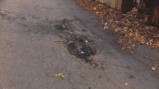 Mr Panes' scooter was found burnt in a lane near to his home.