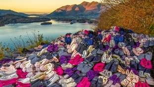 Hundreds of empty slippers launch charity warmth appeal in Cumbria