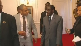 Rohit Kachroo with Robert Mugabe