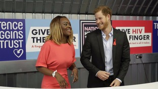 Prince Harry visited a pop-up HIV testing clinic.