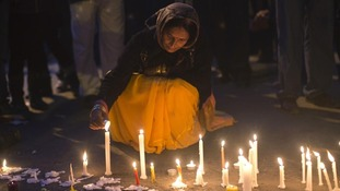 Candle lit vigil is held in India for the 23-year-old student who died after she was attacked in Delhi