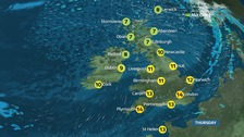 Outbreaks of rain will spread across England and Wales