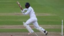Shiv Thakor batting for Derbyshire Cricket Club.