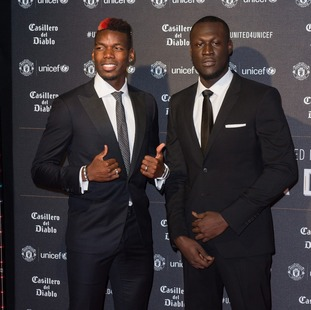 Paul Pogba and Stormzy attended the United for Unicef Gala
