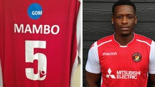 Fans rejoice as Kent footballer Mambo takes No.5 shirt